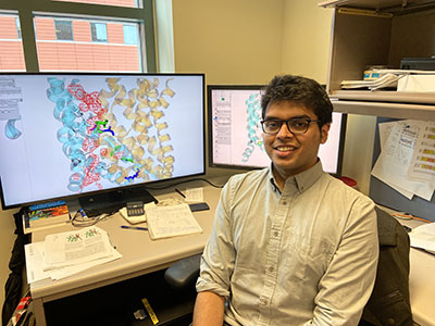 Shashank Pant in his lab.