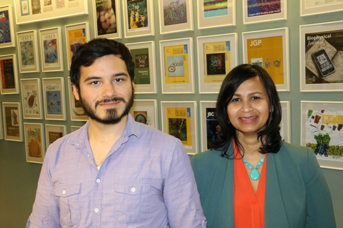 William Arnold, left, and Aditi Das.