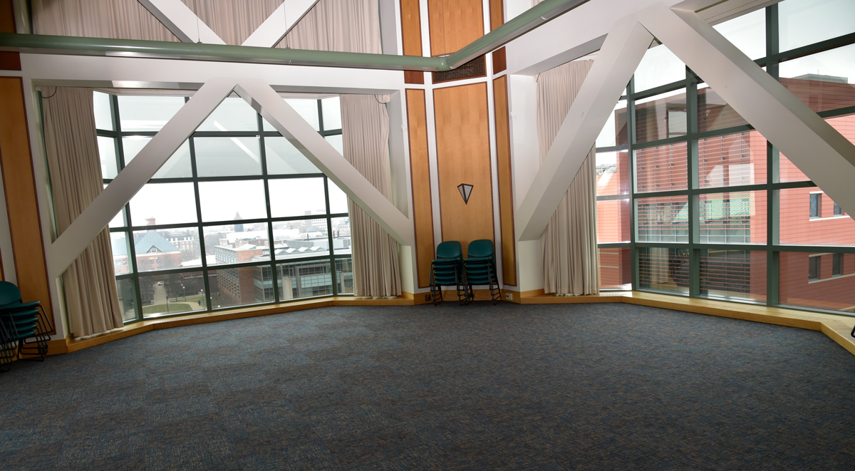 A photo of the fifth floor tower room at the Beckman Institute.