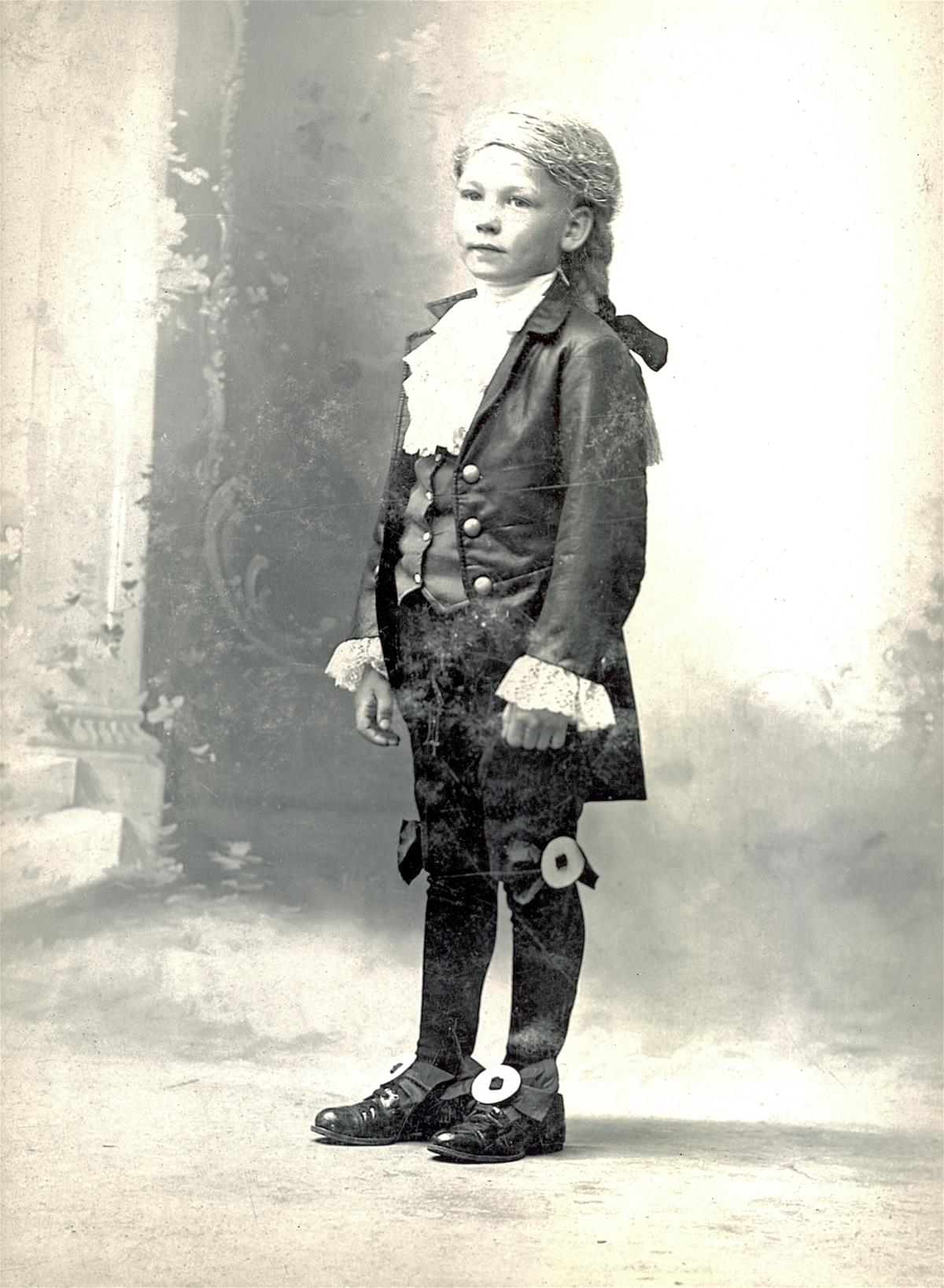 A portrait of Arnold Beckman as a child.