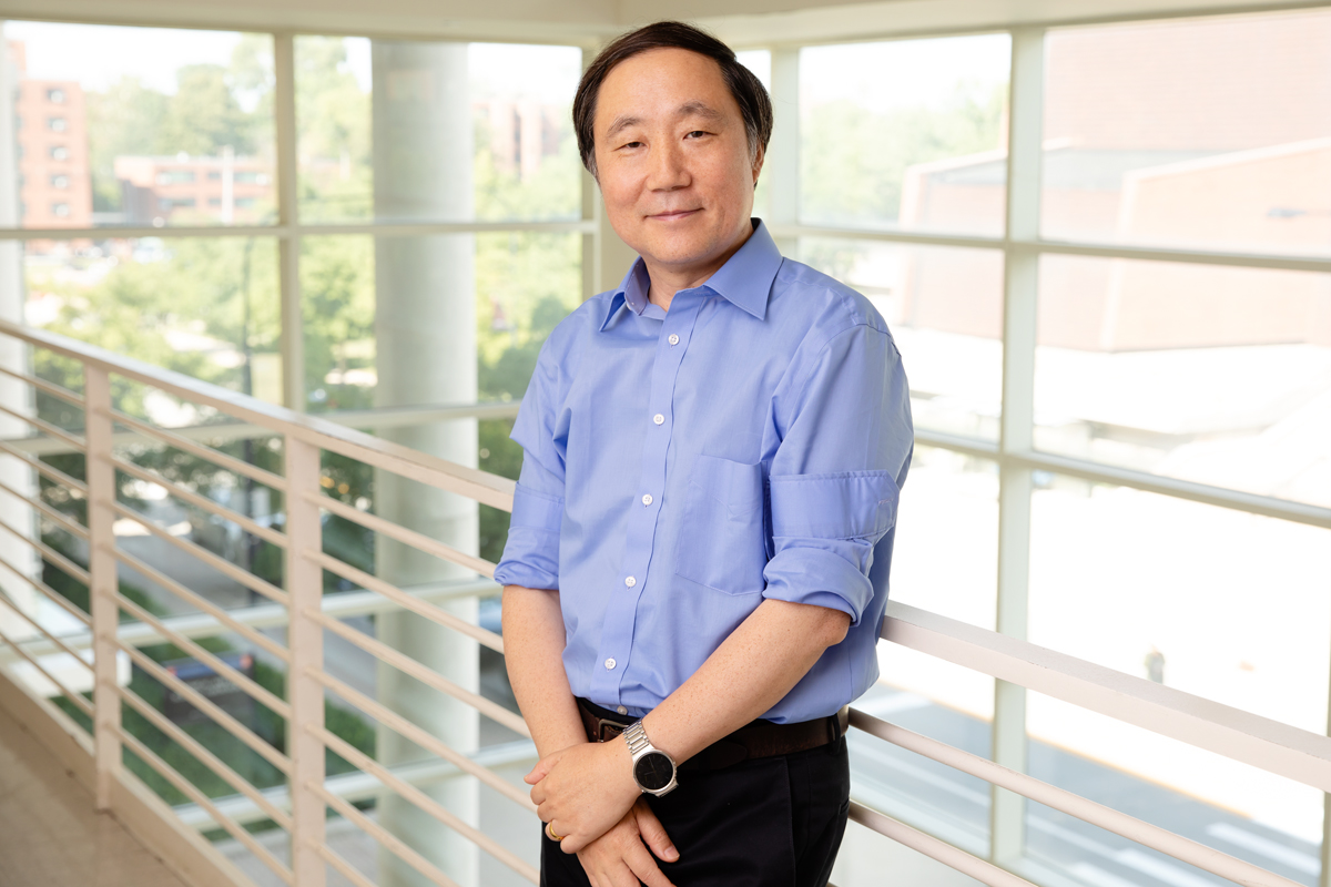 Chemistry professor Yi Lu, who led a team that developed a technique that allows DNAzymes to cut double-stranded DNA, enabling a wide range of genetic engineering applications.