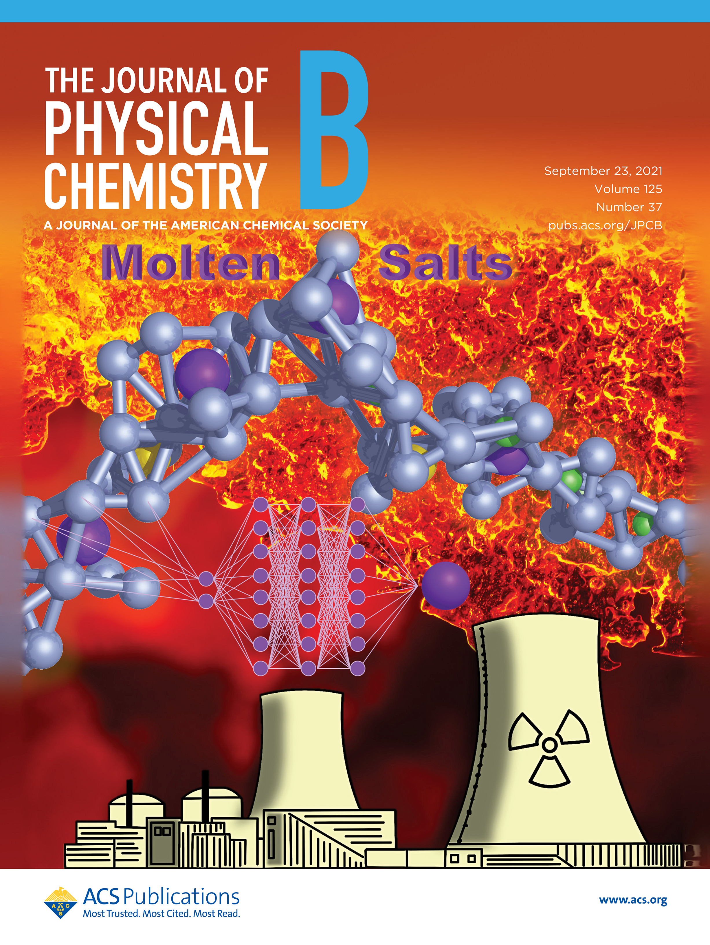 Journal of Physical Chemistry B cover art depicting work from Yang Zhang's lab group