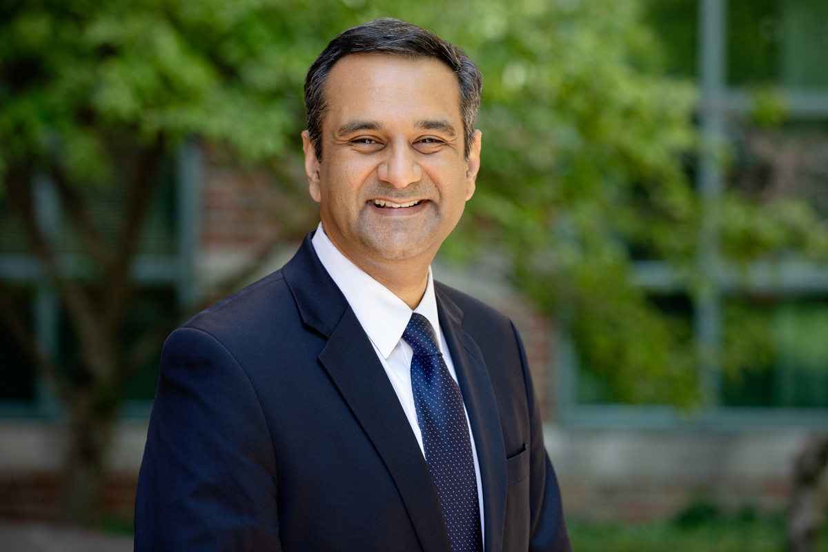 Researcher Rohit Bhargava at the Beckman Institute.