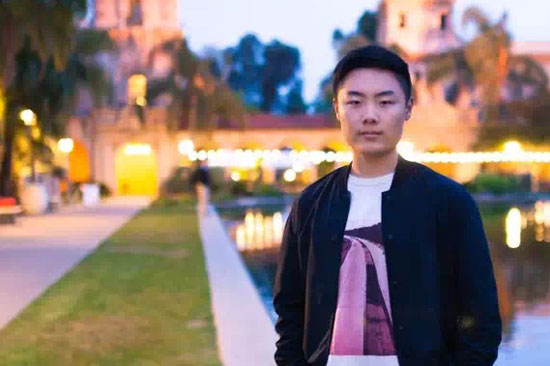 An outdoor photo of grad student Yuxuan Richard Xie.