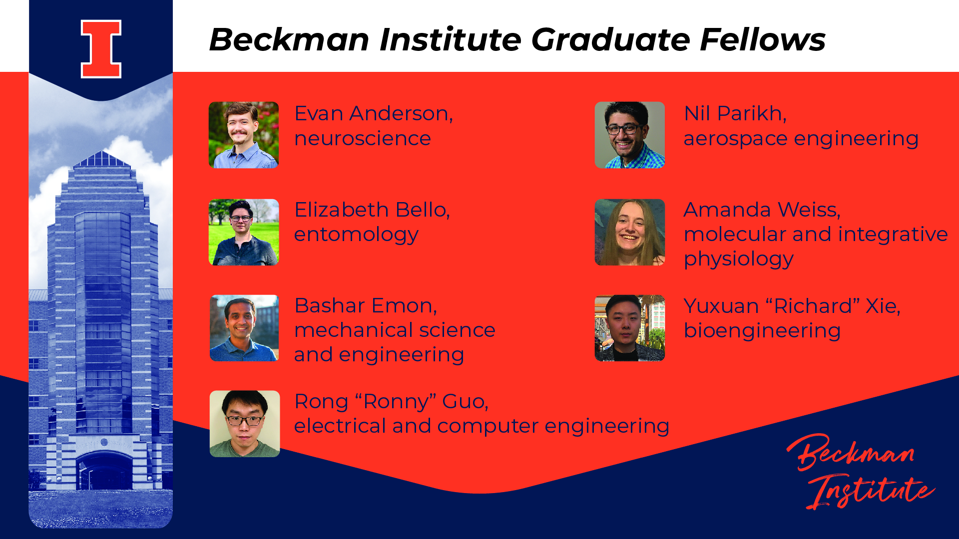 2021 Beckman Institute Graduate Fellows