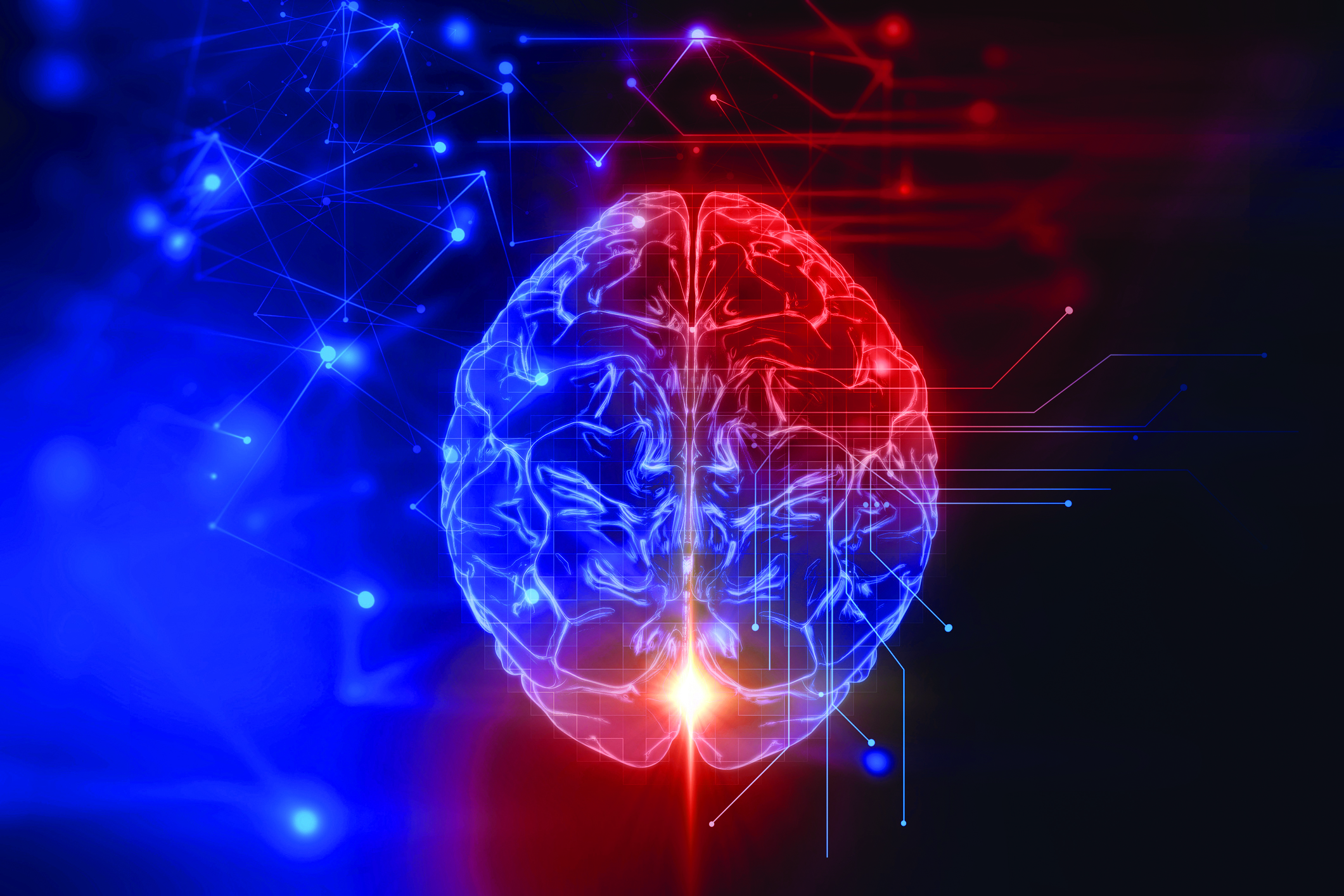 Illuminated brain illustration